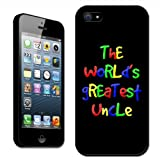 Fancy A Snuggle the World's Greatest Uncle Birthday Gift Clip On Back Cover Hard Case for Apple iPhone 5