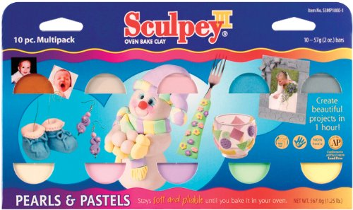 Polyform Sculpey III Polymer Clay Pack 2 Oz. 10-Pack: Pearls & Pastels
