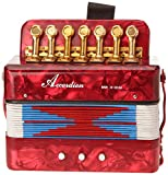 Delson ACC Mini Accordéon Rouge