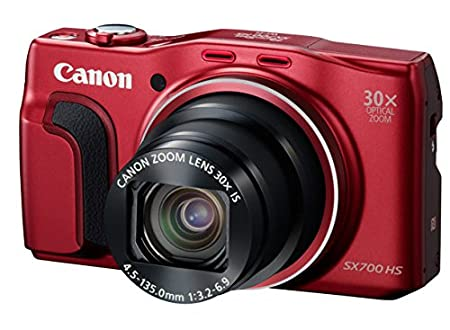 Canon PowerShot SX700 HS Compact System Camera - Red (16.1MP, 30x Optical Zoom)
