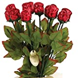 "Long Stem 19"" Milk Chocolate Roses Bouquet of 6 - Red"