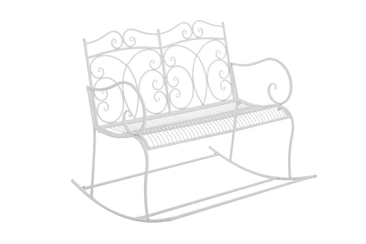 CLP nostalgische Garten Schaukel-Bank GESINE, aus lackiertem Eisen, 6 Farben wählbar weiß günstig bestellen