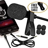 RockDaMic Professional Lavalier Microphone [FREE BONUS ACCESSORIES] Best Clip-on System Lapel Mic Condenser for Recording, Youtube, DSLR, Interview, Camera, iPhone Android PC Video Conference (5) (Color: 5)