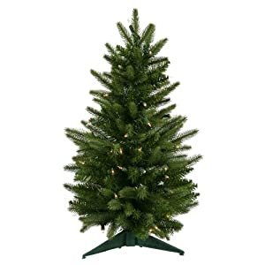#!Cheap 2' Pre-Lit Frasier Fir Artificial Christmas Tree - Clear Lights