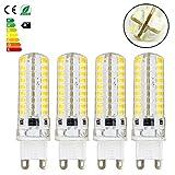 4x G9 6W LED Lampe Glühbirne Silikon Strahler Lampe Leuchtmittel 480LM Sparlampe Spot Warmweiß AC220-240V (4)