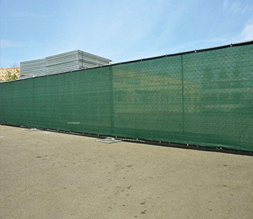 Aleko 6 x 50 feet dark green fence privacy screen outdoor for Garden screening fabric