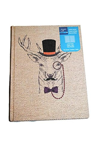 Hipster Deer Journal hardcover 120 Lined Sheets
