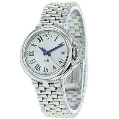 Bedat Unisex 828.021.600 No. 8 Steel Bracelet Automatic Diamond Crown Watch