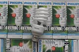 Genuine Philips Spiral Shape Tornado Compact 23w=125W B22 CFL Energy Saver Light Bulb BC Bayonet Cap UK Fitting 220-240v. EXTRA BRIGHT, COOL DAYLIGHT 6500K