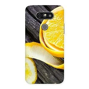 Ajay Enterprises Fill Orange Peal Blackish Back Case Cover for LG G5