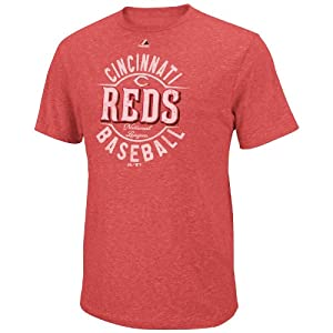 MLB Majestic Cincinnati Reds The Big Time Fashion Tri-Blend T-Shirt - Red by Majestic