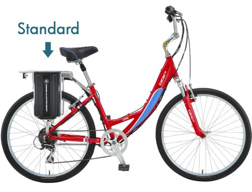 IZIP E3-Vibe - Low Step - Standard Battery Electric Bike - Red