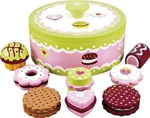Kuchen/Kekse mit Keksdose - Holz, Puppen-Geschirr, Puppen ...