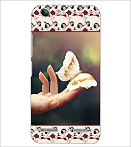 PrintDhaba Butterfly D-5700 Back Case Cover for LENOVO A6020a46 (Multi-Coloured)