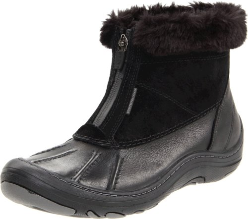 Clarks Women's Centerline Waterproof Boot,Black/Black,9 M US