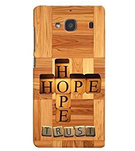 printtech Hope Back Case Cover for Xiaomi Redmi 2S::Xiaomi Redmi 2::Xiaomi Redmi 2 Prime