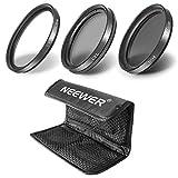 Neewer® 3枚 40.5mm マルチコーティングHDフィルタキット 含: UV + CPL + ND8 + フィルタキャリーポーチ