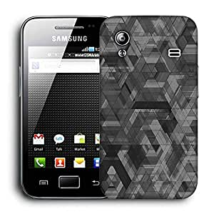 Snoogg SpACE S5830 Black Abstract Printed Protective Phone Back Case Cover For Samsung Galaxy ACE S5830