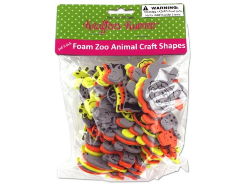 Foam Zoo Animal Craft Shapes - Case of 48