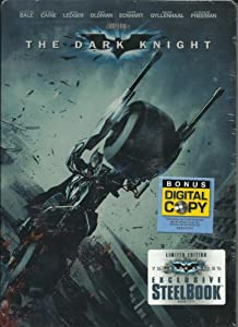 The Dark Knight (Two-Disc Special Edition + Digital Copy with Exclusive Steelbook Packaging) ~ Christian Bale, Heath Ledger, Maggie Gyllenhaal, and Aaron Eckhart (DVD - Dec 9, 2008)