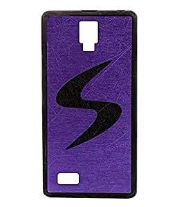 Exclusive Rubberised Back Case Cover For Gionee Pioneer P2S - Purple With Black