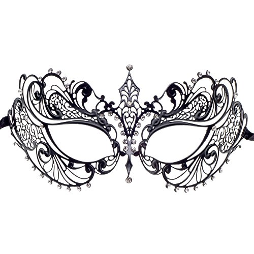 Princess Charming Black Masquerade Crystal Mask