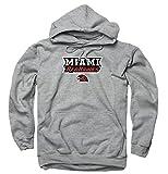 Miami Redhawks Arch and Logo Hooded Sweatshirt - Sport Gray