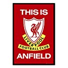 Iposters Liverpool Fc Poster This Is Anfield Cork Pin Memo Board Black Framed - 96.5 X 66 Cms