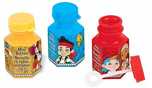 DesignWare Amscan AMI 398488 Jake and The Neverland Pirates Mini Bubbles for Party - 1