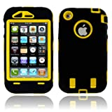 Body Armor for iPhone 3G / 3GS - Black & Yellow