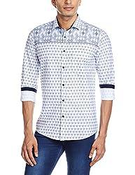Easies Men's Casual Shirt (8907395201482_81616 MAINE E702UASFFSSC NVANTQ_Large_Multicolor