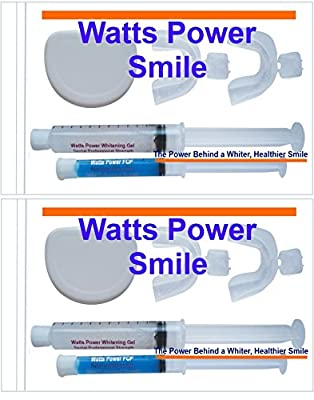 2 - Complete Watts Power White 36% Deep Stain Formula Teeth Whitening Kits with New FCP Aftercare Gels