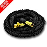 NEW MODEL OF WORLD'S STRONGEST Expandable Garden Hose with MADE IN USA inner tube material, Garden Hose Expanding Hose Flexible Hose Water Hose Expandable Hose (Black, 25 ft)