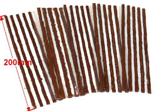 Aerzetix-25-strisce-riparazione-foratura-gomme-pneumatici-tubeless-auto-lunghe-200mm
