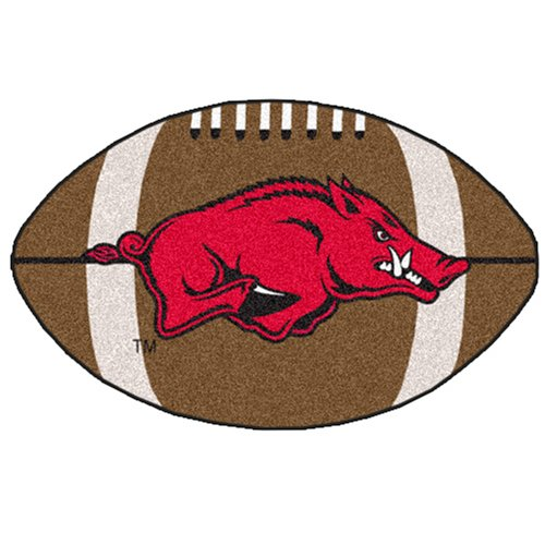FANMATS NCAA University of Arkansas Razorbacks Nylon Face Football Rug at Amazon.com