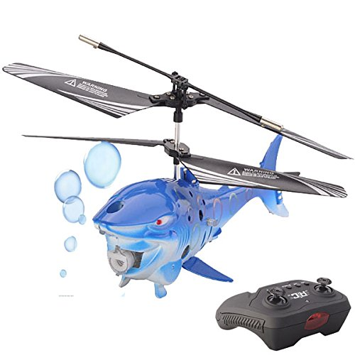Top Race® 3.5 Channel Bubble Blowing RC Shark Fish Helicopter