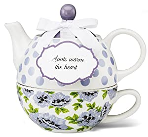 Pavilion Gift 49006 You and Me Tea for One Teapot Set by Jessie Steele by Pavilion Gift company