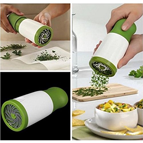 Herb Grinder Spice Mill Parsley Shredder Chopper Fruit Vegetable Cutter Cooking Kitchen Tools (3) (Parsley Grinder compare prices)