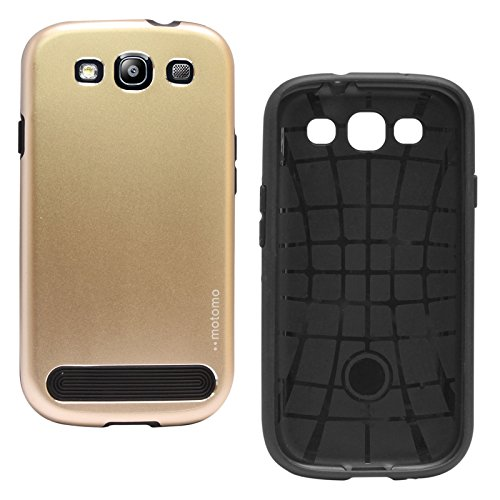 DMG Motomo Ultra Tough Metal Shell Case with Side TPU Protection for Samsung Galaxy S3 / S3 Neo (Gold)