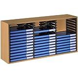 Hama Vidéo Rangement Meuble-étagère en bois peint en Hêtre pour le rangement de 39 DVD avec système d'éjection des disques
