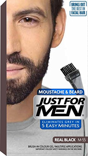 Just For Men Brush In Colour Gel Real Black (M55) Facial Hair Colour