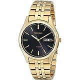 Seiko Men's SNE044 Gold-Tone Stainless Steel Solar Watch