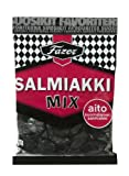 Fazer SALMIAKKI MIX Finnish Liqourice Licorice Wine Gum Chewy Candy Sweets Bag 180g.