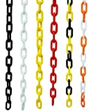 PLASTIC CHAIN IN BLACK, CROWD CONTROL CENTER, 32FT