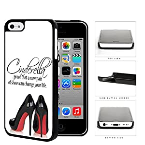 Amazon.com: Cinderella Shoes Quote with Black High Heels Red ...
