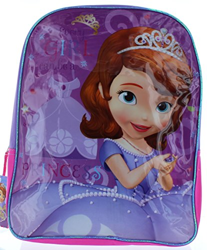 "Sofia the First 14"" Backpack - 'Every Girl Can Be a Princess' - 1"
