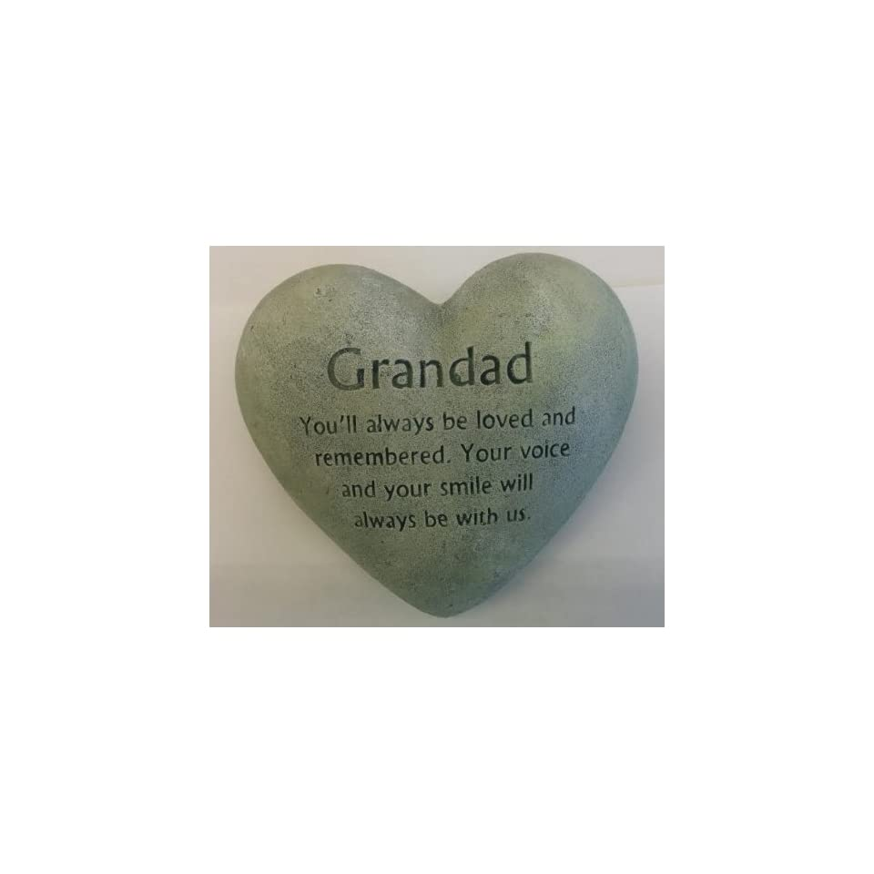 Heart Shapped Memorial Stone (Grandad)
