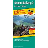 Radwanderkarte Donau-Radweg 2 Passau-Wien: Mit Ausflugszielen, Einkehr- und Freizeittipps, reissfest, wetterfest, abwischbar. 1:50000
