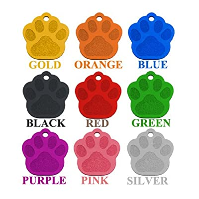 CUSTOMIZE NOW Laser Etched Aluminum Pet ID Tag for Dog & Cat Tag Free Engraved & Personalized