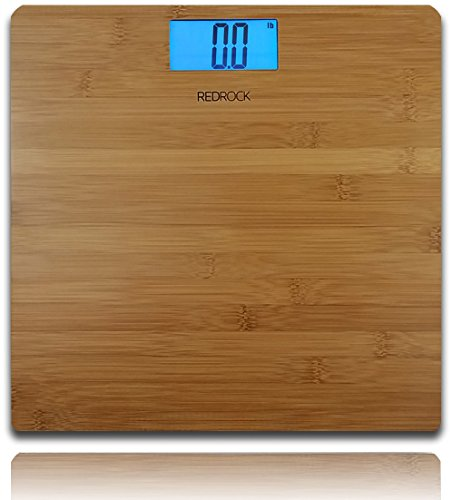 Modern Bamboo Weighing Body Scale 2014 Product 400lb capacity Digital Blue Backlight LCD screen decor for Bath, Kitchen, & Living room
